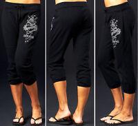 Sinful by Affliction BUCKINGHAM Woman's Capri Sweatpants - TP400 - Black - NEW