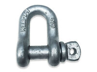 """5/16"""" SCREW PIN CHAIN SHACKLE  -  HDG  -  15 PACK"""