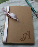 PERSONALISED JOURNAL/NOTEBOOK-Monogrammed Letter-Initial-Secret Santa-Stocking