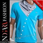 Kickdown T-Shirt Maglietta Uomo NASTY turchese 5002 TG. M / L / XL