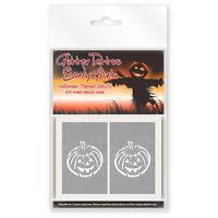 24 x Childrens Halloween Themed Glitter Tattoo / Body Art Stencils!