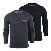 Mens Jumper Brave Soul Persian Cotton Crew Neck Sweater