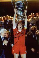 Phil Thompson signed Liverpool 1981 European Cup football photo UACC RD