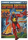 CAPTAIN BRITAIN MARVEL MASTERWORKS PIN-UP POSTER Vintage art Marvel UK British