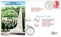 WW2 RAF escapers & evaders multi signed Operation Sherwood  Resistance FDC