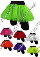 2 or 3 Layer TuTu Neon Fancy Dress 80's Hen Night Fun Run Party One Size 10-16.