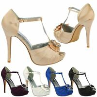 Honey Womens High Heels Stilettos Diamante Platforms Ladies Party Shoes Size New