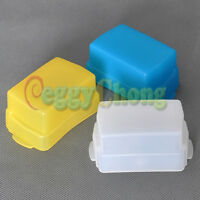 Blue+Yellow+White kit Flash Bounce Diffuser softbox for Canon 580EX 580 EX II