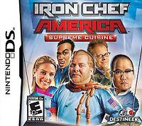 Iron Chef America: Supreme Cuisine (Nintendo DS, 2008)INCLUDES ORIGINAL CASE+MAN