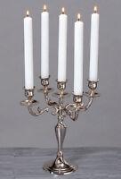 Kerzenleuchter 26cm Silber 5-flammig vernickelt Kerzenständer Antik Barock Neu