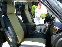 GMC YUKON 2007-2014 IGGEE S.LEATHER CUSTOM FIT SEAT COVER 13COLORS AVAILABLE