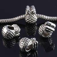 15Pc Tibetan Silver Pineapple Large Hole European Beads Fit Charm Chain Bracelet