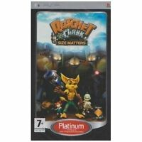 SONY PSP GAME RATCHET - CLANK SIZE MATTERS INSTRUCTIONS INCLUDED ALL COMPLETE