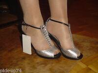 Mango MNG Damen Sexy Schuhe High Heels Pumps Gr 37 Trend 2017 Metallic Effekt