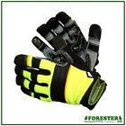 10 Pairs Hi-Vis,Kevlar Cut Resistant,Arborist,Tree Climbers,Work Gloves,Mechanic