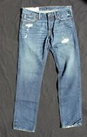 NWT Size 32 x 34 Men Abercrombie Fitch  Rollins Low rise skinny Jean Destroyed