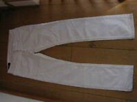 BLUE BLOOD BARTLETT WHITE WASH SLIM STRAIGHT JEANS 30 WAIST UK 10 SMALL NEW
