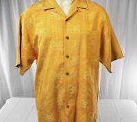 Tommy Bahama Light Orange Silk Short Sleeve Button Shirt Large