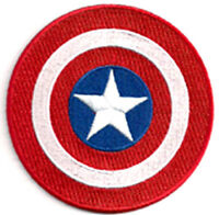 """Captain America Shield 3.5"""" Embroidered Movie Patch- USA Mailed (CAPA-03)"""