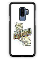 California Map Vintage Style San Francisco LA case for Samsung Galaxy S9 Plus