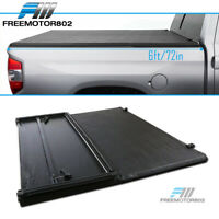 Fits 16-19 Toyota Tacoma 6ft Bed Black Vinyl Soft Lock Tri-Fold Tonneau Cover