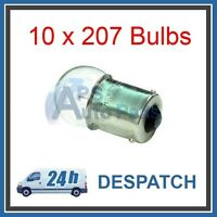 10 No Pack of Sidelight Auto Bulbs 207 12V 5W BA15S Tail Light Car SCC Bulb