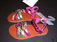 NWT Gymboree Palm Springs Metallic Sandal Shoes 6 18-24
