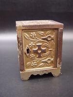 J & E Stevens 1897 Key Lock Safe Cast Iron Still Bank