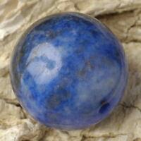 Natural Blue LAPIS LAZULI 18mm Round Feature BEAD ~ (B- Grade)
