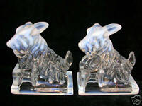 Opalescent Scotty Dog Bookends (Pair)