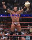 WWE PHOTO FILE GLOSSY PROMO 8x10 DAVE BATISTA BELT