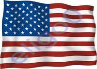 1x UNITED STATES USA STICKER WAVING FLAG BUMPER decal