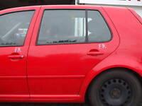 Tür hinten links VW Golf 4 4-türig rot LP3G