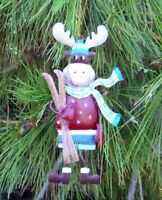 "Moose Christmas String Ornament ""Ski Moose"" Regal Art"