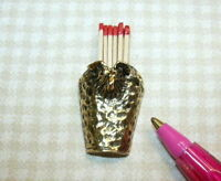 Miniature Ram Head Fireplace Match Holder for DOLLHOUSE