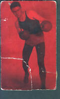 1928 Exhibit Supply Company Boxing Postcard-TOMMY LOUGHRAN-Red Front