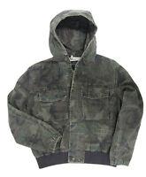 Woodland Camo ARMY FIELD JACKET Hooded Moleskin Military Camouflage Coat - SMALL