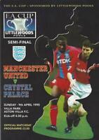 1995 FA CUP SEMI-FINAL - MAN UTD v CRYSTAL PALACE