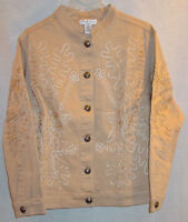 ONCE AGAIN WOMANS FANCY TAN DECORATED JACKET SZ 2X NWT