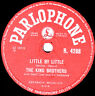 THE KING BROTHERS ROCKER 78 LITTLE BY LITTLE / MARIANNE UK PARLOPHONE. R4288 M-!