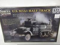 FORCES OF VALOR UNIMAX 1/72 SCALE U.S. M3A1 HALF-TRUCK PLASTIC MODEL KIT 87012