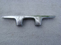 "6"" OLD RUSTY CHROME SHIP BOAT DOCK CLEAT CHOCK DECOR"