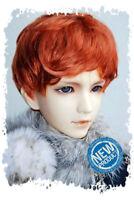 "6-7"" Carrot Synthetic Mohair Yo-SD BJD Doll Short Wig"