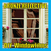 BRONZE SOLAR REFLECTIVE ONE WAY MIRROR WINDOW FILM TINT