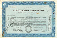 Kaiser-Frazer Corporation > Nevada auto stock certificate share