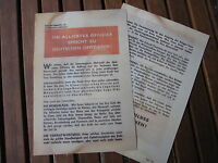"Flugblatt ""Allied Officer"" Normandie US Army WK2 WWII Leaflet Flyer"