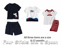 NWT Gymboree Baby Boy's Pelican Catch Ocean T-Shirts Tops & Shorts Size: 6-12 M