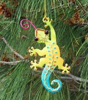 Gecko Christmas String Ornament Metal Regal Art