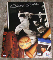 MICKEY MANTLE MEMORABLE MOMENTS 16x20 PRINT SIGNED AUTOGRAPHED PSA DNA PO4196