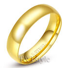 T&T 14K Gold GP 6mm Stainless Steel Wedding Band Ring Size 11 R136